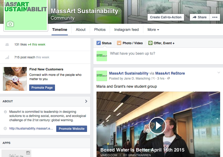 Massart Sustainability  on Facebook