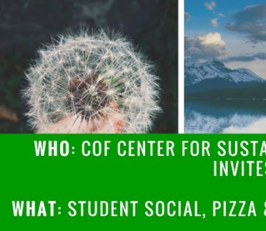 10/19 COF Center for Sustainability Student Social