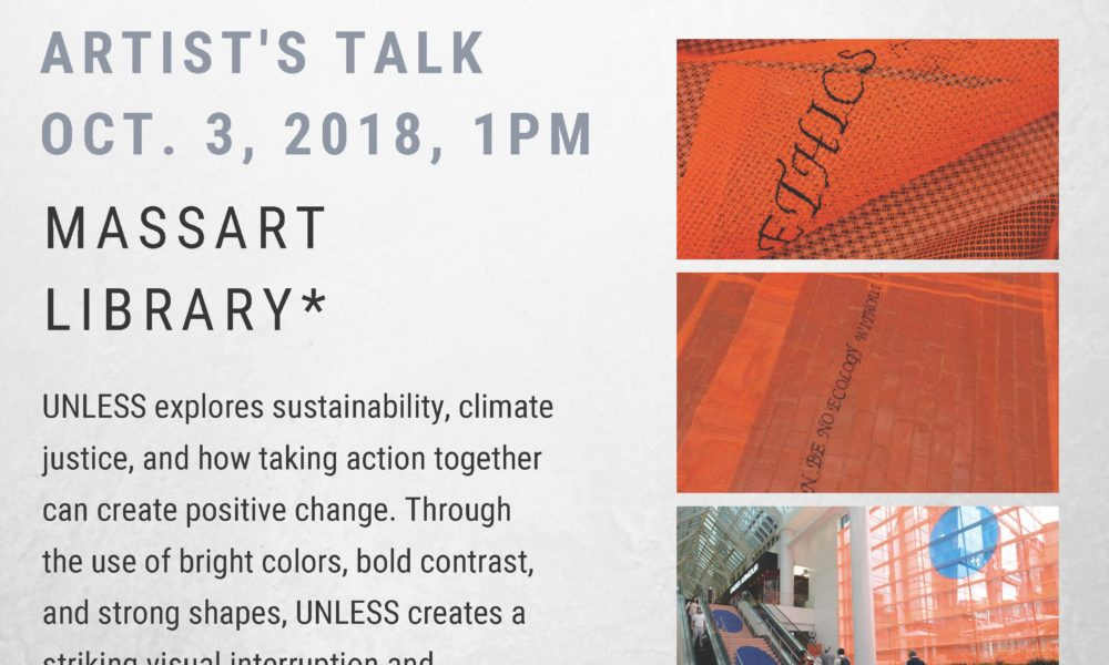 UNLESS, artists talk by Stephanie Cardon at MassArt library
