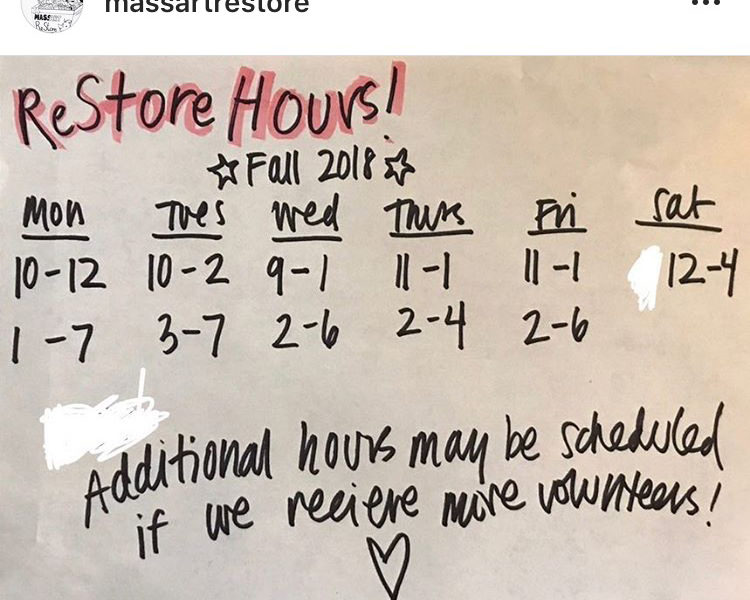 ReStore Fall hours 2018