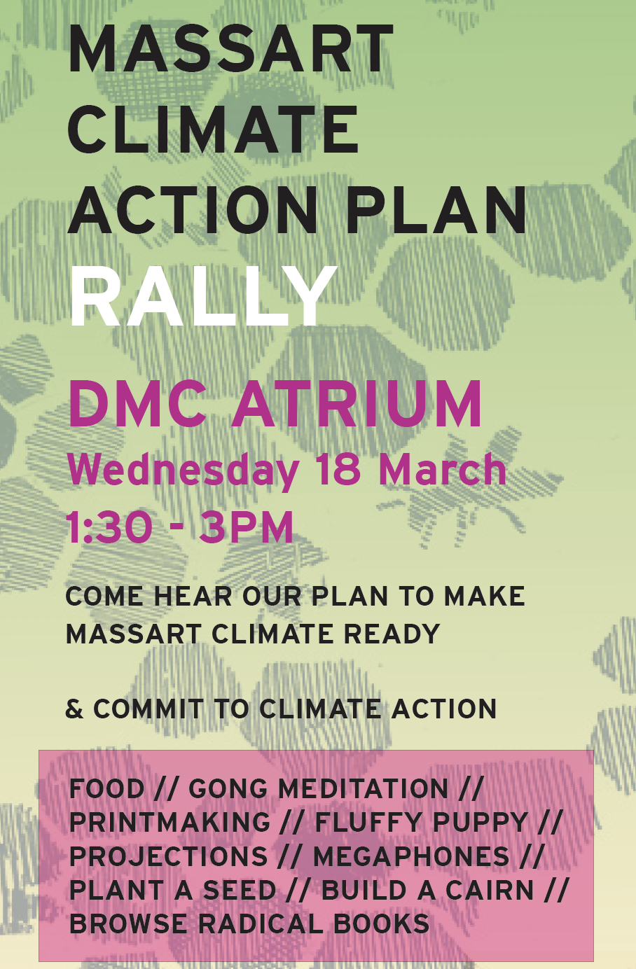 climate action plan rally poster